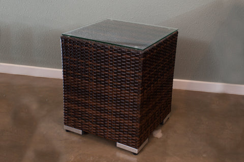 All-Weather Outdoor Wicker End Table