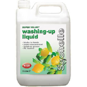 Super Velvet Washing Up Liquid: 1 x 5 Litre