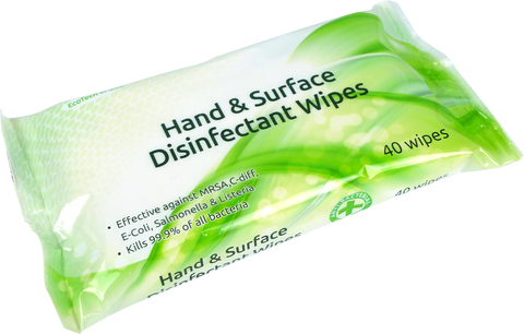 Surface Disinfectant Wipes - Pack of 40