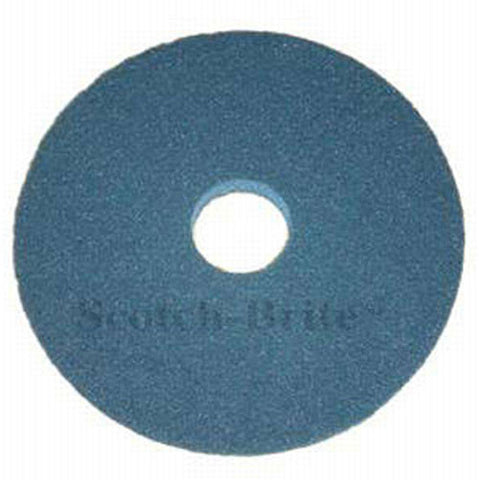 "3M™ Scotch-Brite™ Premium Blue Heavy Duty Scrubbing Floor Pads: 15"", 16"" & 17"" (Case of 5)"
