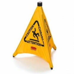 "Pop-up Cone Multilingual ""CAUTION"" Sign"