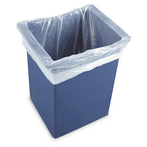 White Bin Liners H.D. Square: Case 500