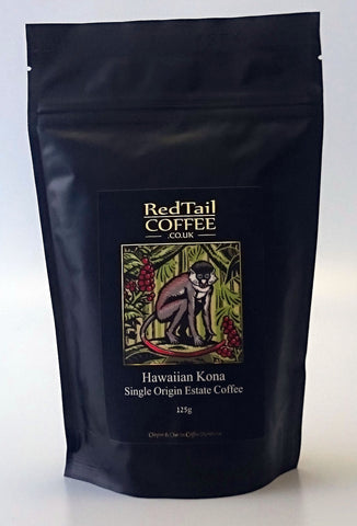 100% Hawaiian Kona Coffee (Whole Bean) 125g