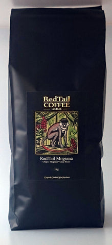 RedTail Mogiana Brazilian Wholebean Coffee 1kg - From the Mogiana Valley in Brazil