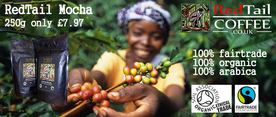 Redtail Mocha Sidimo fairtrade organic speciality coffee