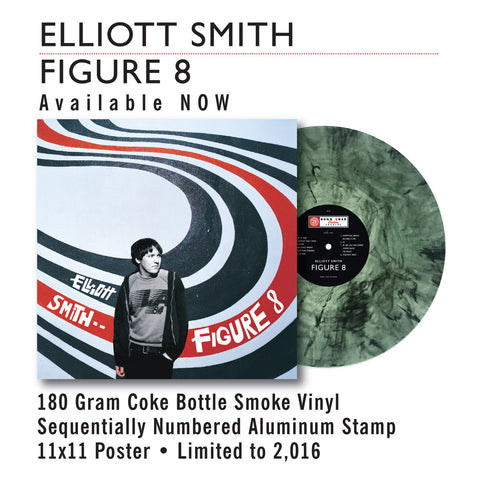 "ELLIOT SMITH - FIGURE 8  (COKE BOTTLE SMOKE VINYL) 12"" + POSTER"