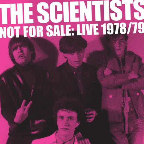 "THE SCIENTISTS: 'Not For Sale' Live ""78 / ""79 - (2LP PINK VINYL / CD)"