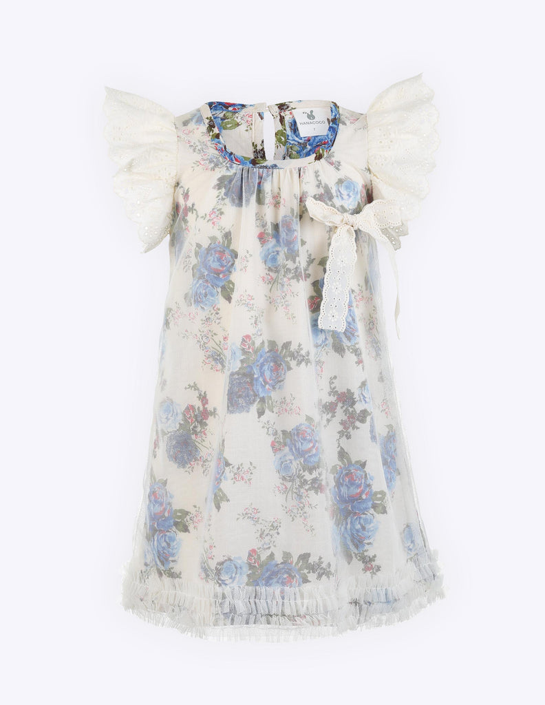 Lace Sleeve Floral Shift Dress