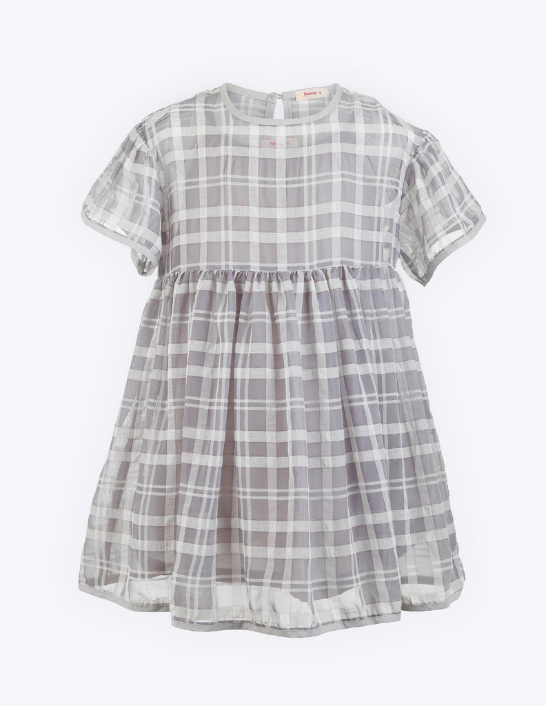 Tartan Dress Grey