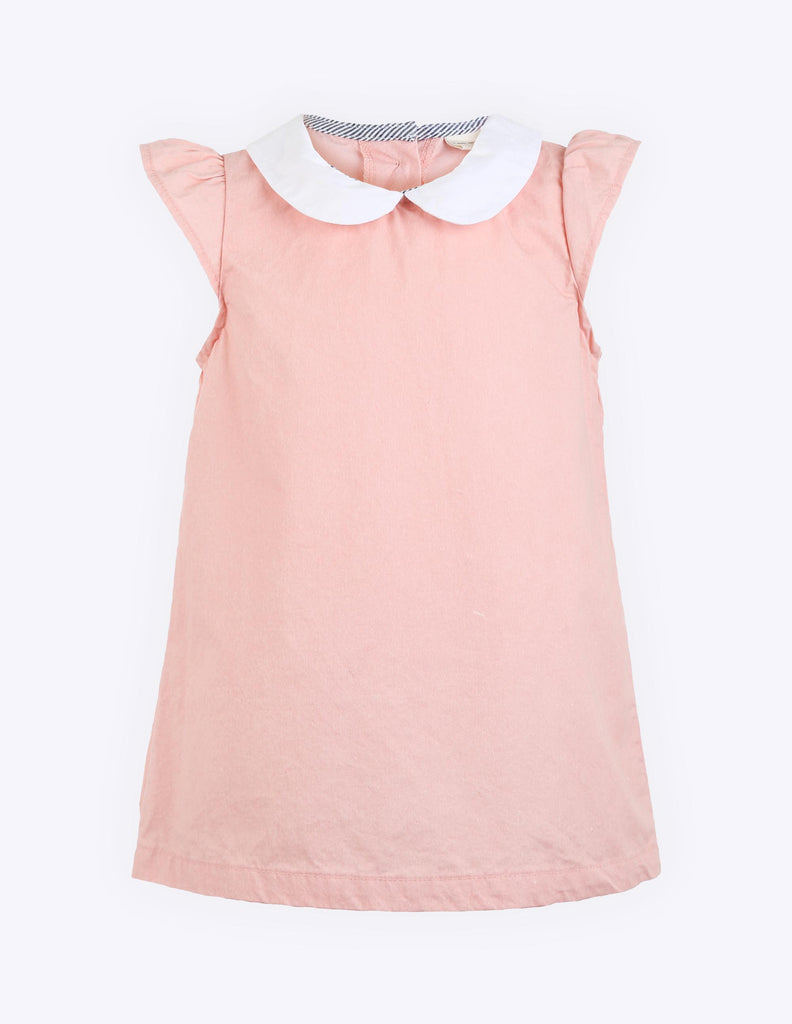 Cap Sleeve Shift Dress Pink