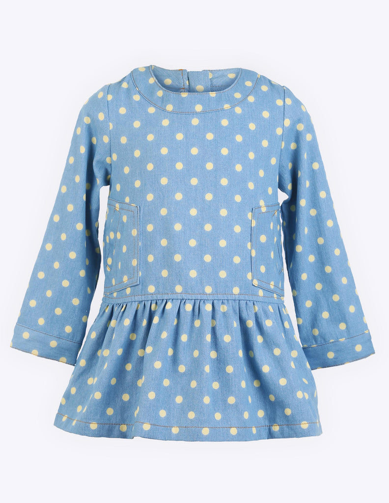 Polkadot Barrel Sleeve Dress