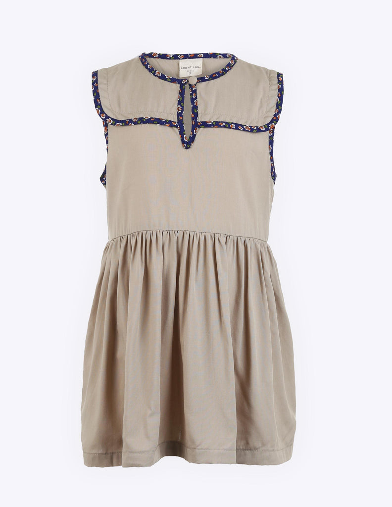 Tan Keyhole Sleeveless Dress