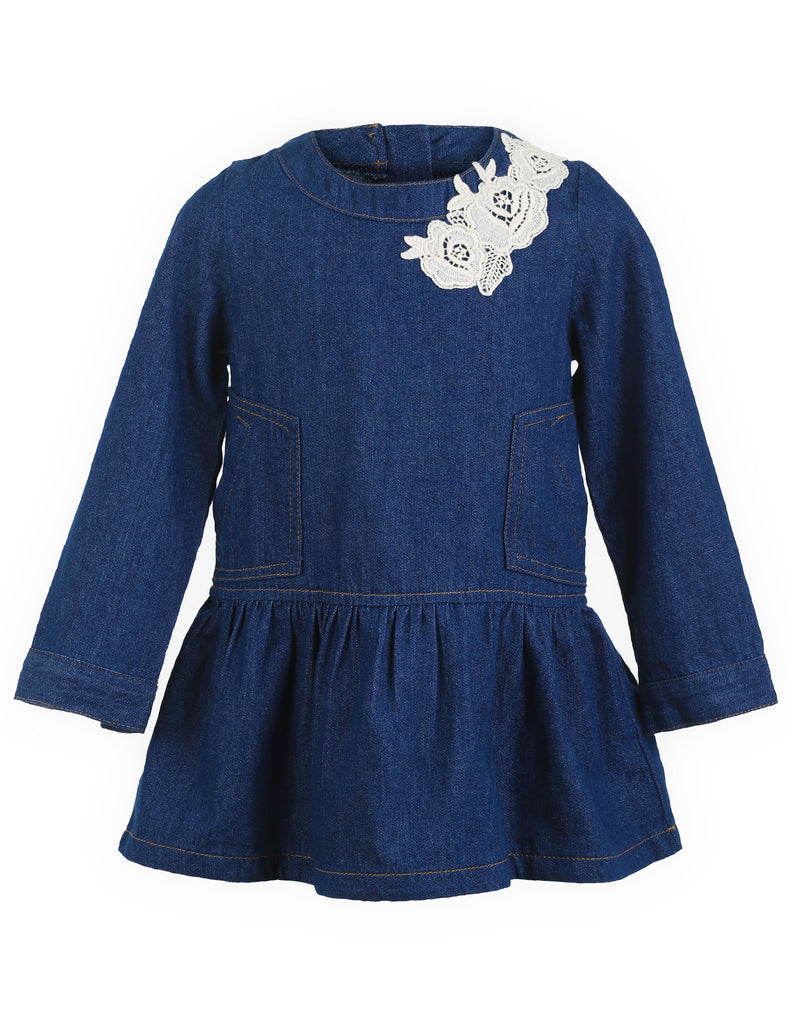 Denim Barrel Sleeve Dress