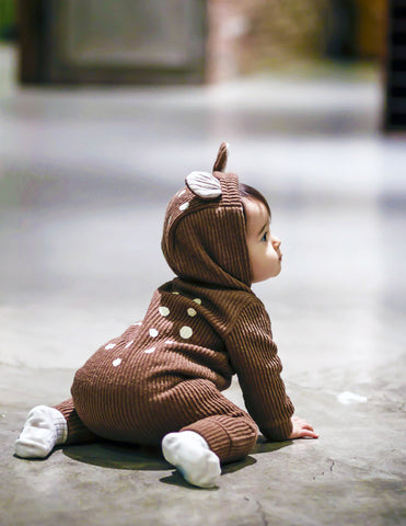 Bambi Winter Hooded Jumpsuit Brown