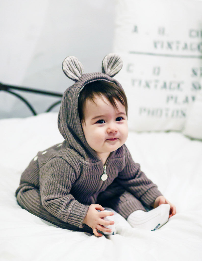 Bambi Winter Hooded Jumpsuit Grey