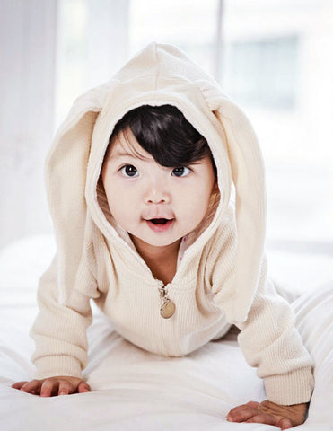 Bunny Hooded Jumpsuit Cream