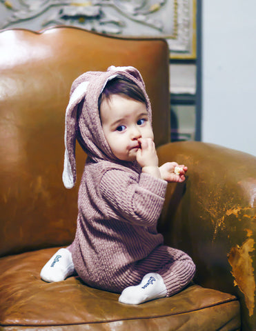 Bunny Winter Hooded Jumpsuit Pink