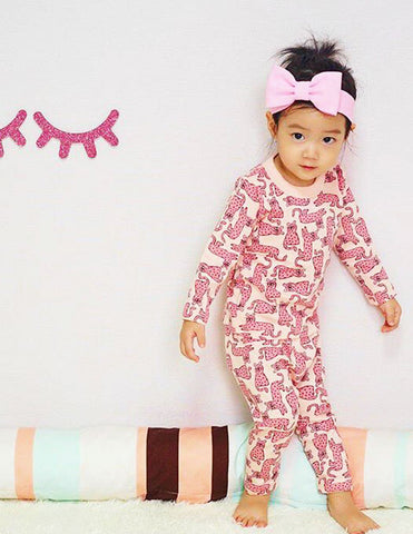 Cheetah Pyjamas Pink