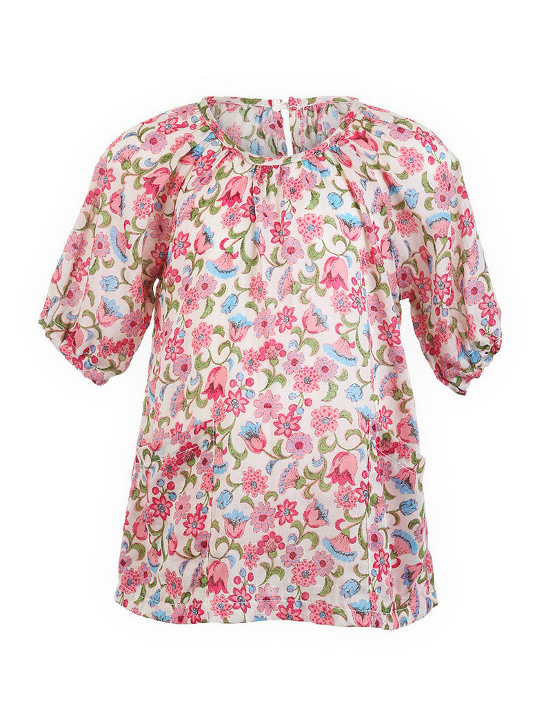 Floral Tunic Dress Pink