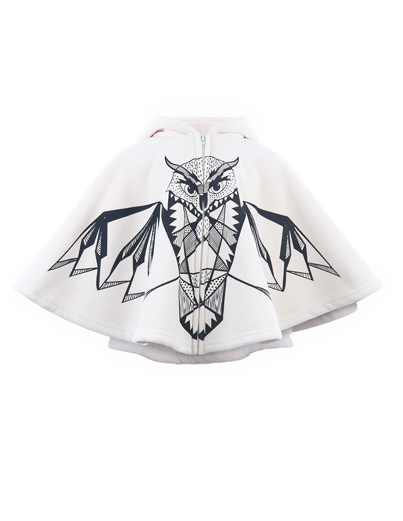 Hooded Owl Cape Ivory