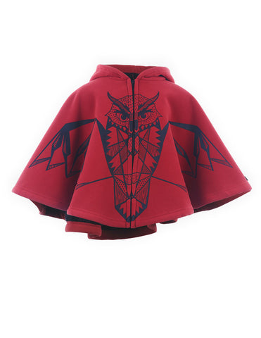 Hooded Owl Cape Red