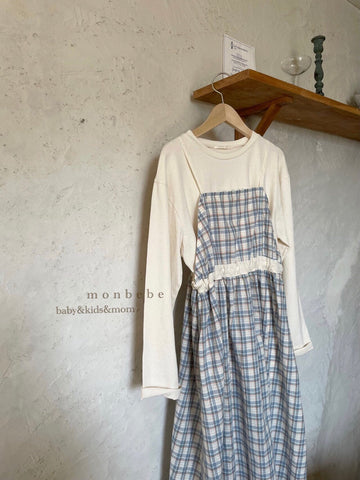 Checked Layered Dress Mum