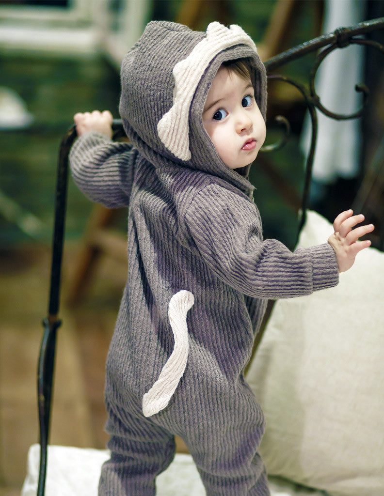 Lion Winter Hooded Jumpsuit