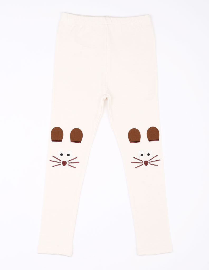 Mouse Leggings Cream