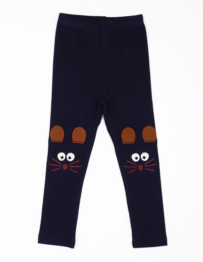 Mouse Leggings Navy