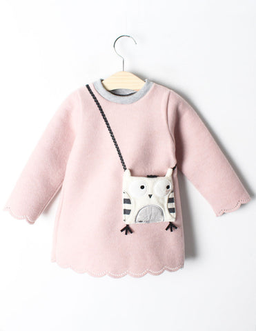 Owl Pocket Tunic Winter Pink