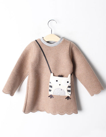 Owl Pocket Tunic Winter Tan