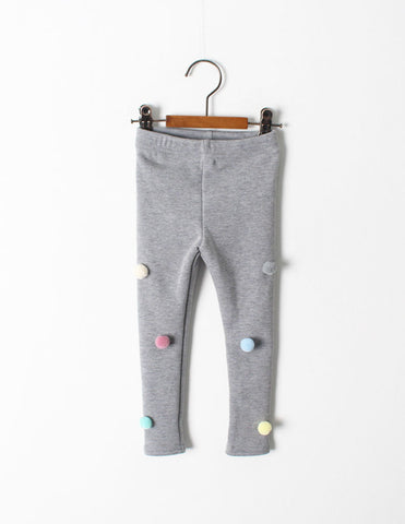 Pom-Pom Winter Leggings Grey