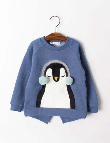 Pom-Pom Penguin Jumper Blue