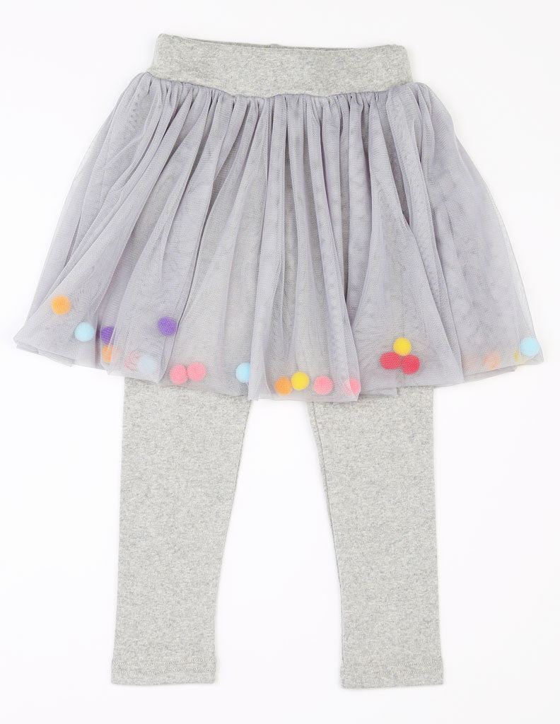 Pom-Pom Tutu Leggings Grey