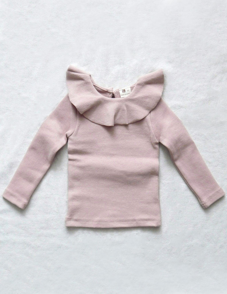 Ruffle Collar Blouse Winter Pink