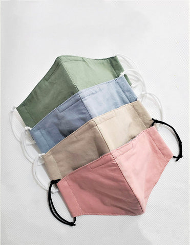4 Layer Cotton Face Mask Pastel