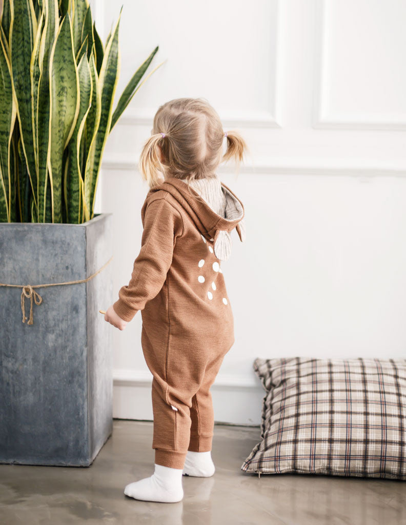 96d484154c94 Bambi Hooded Jumpsuit Brown