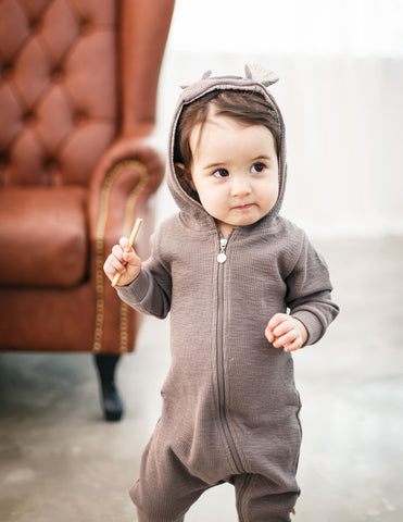 Bambi Hooded Jumpsuit Grey