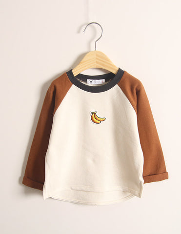 Banana Long Sleeve T-Shirt Brown