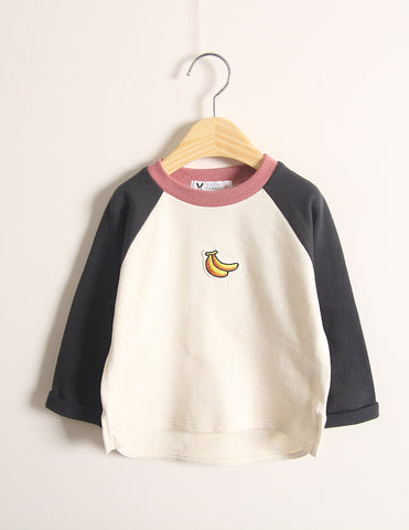 Banana Long Sleeve T-Shirt Charcoal