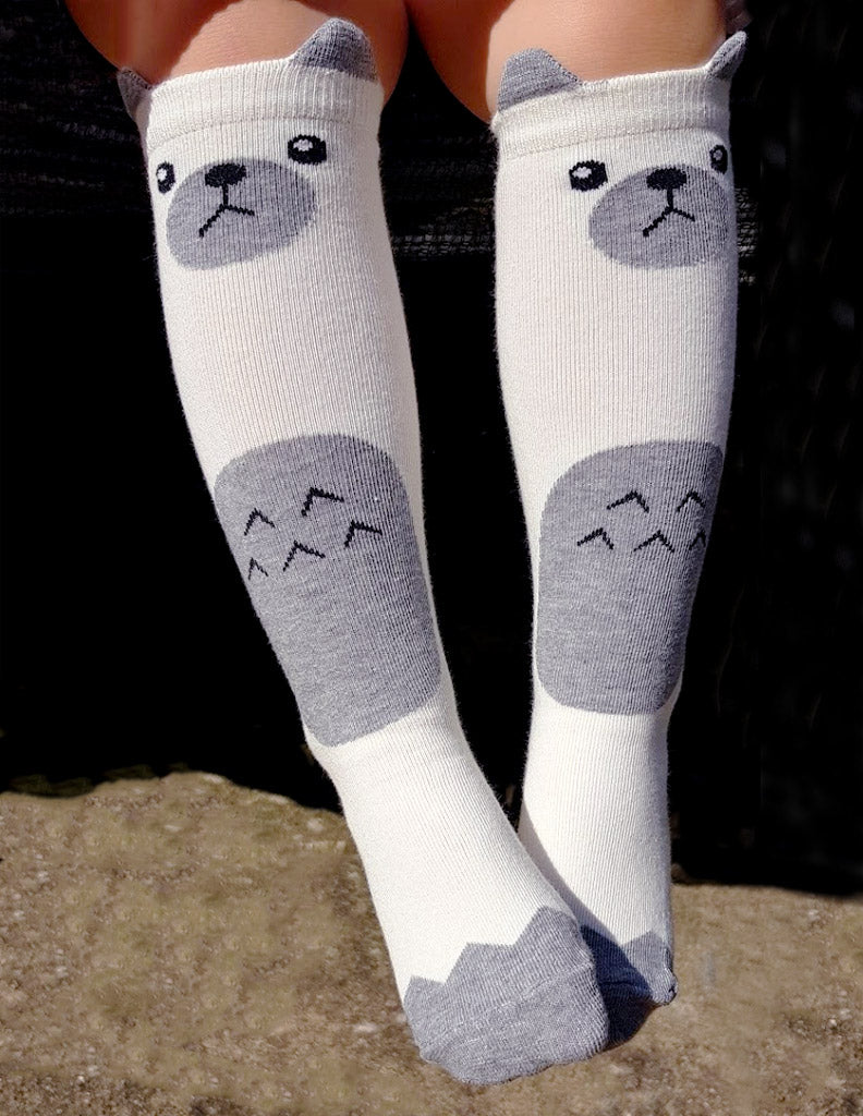 Bear Tummy Knee Socks