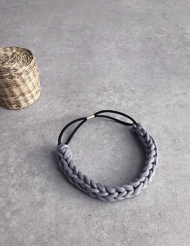Braided Hairband Grey