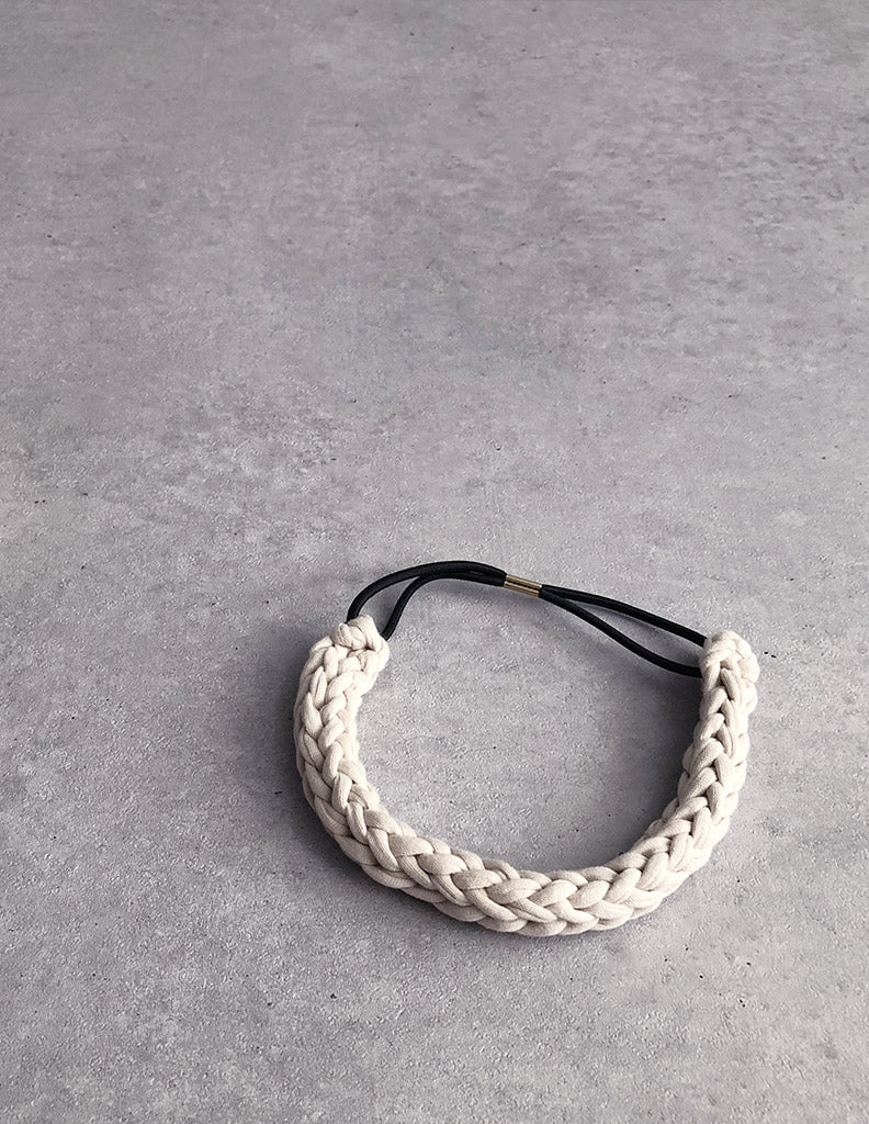 Braided Hairband White