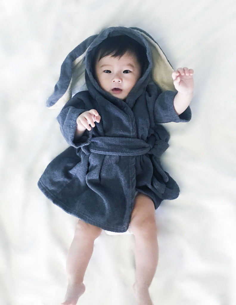 Bunny Bathrobe Charcoal