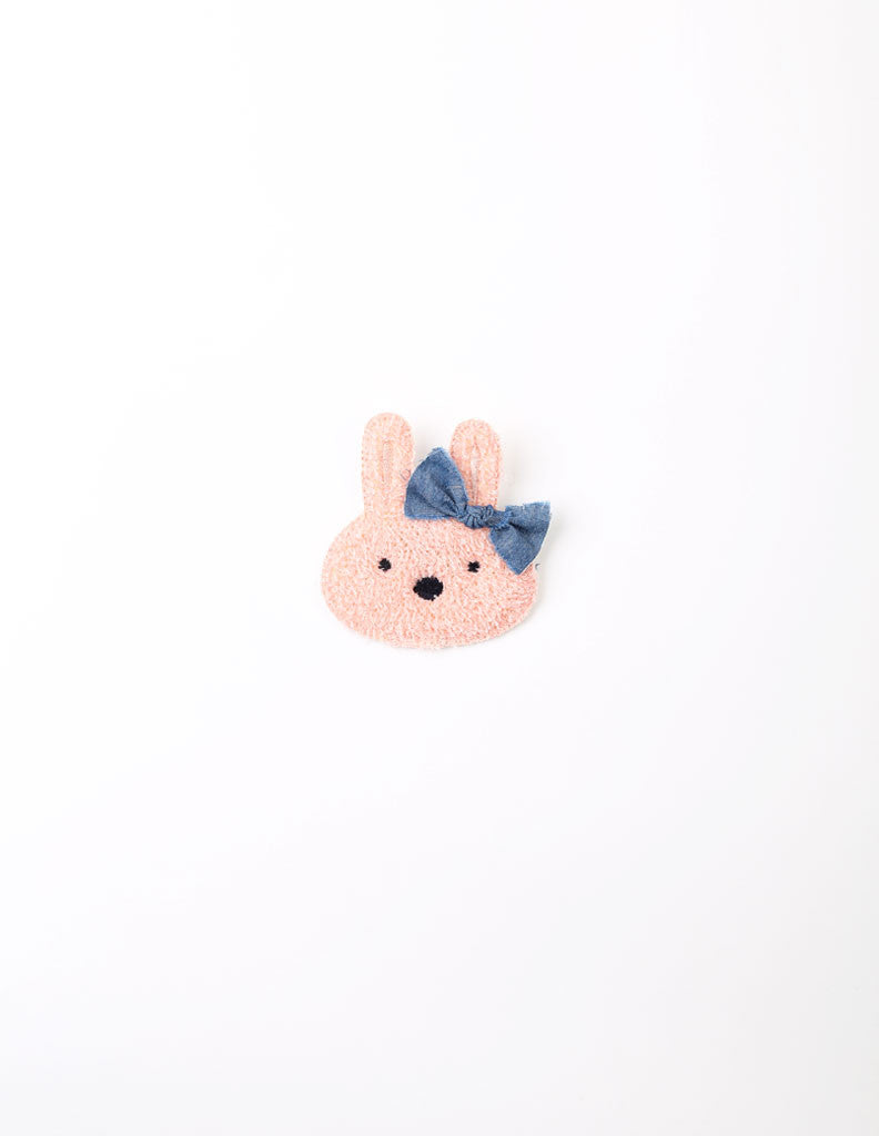 Bunny Bow Brooch Pink