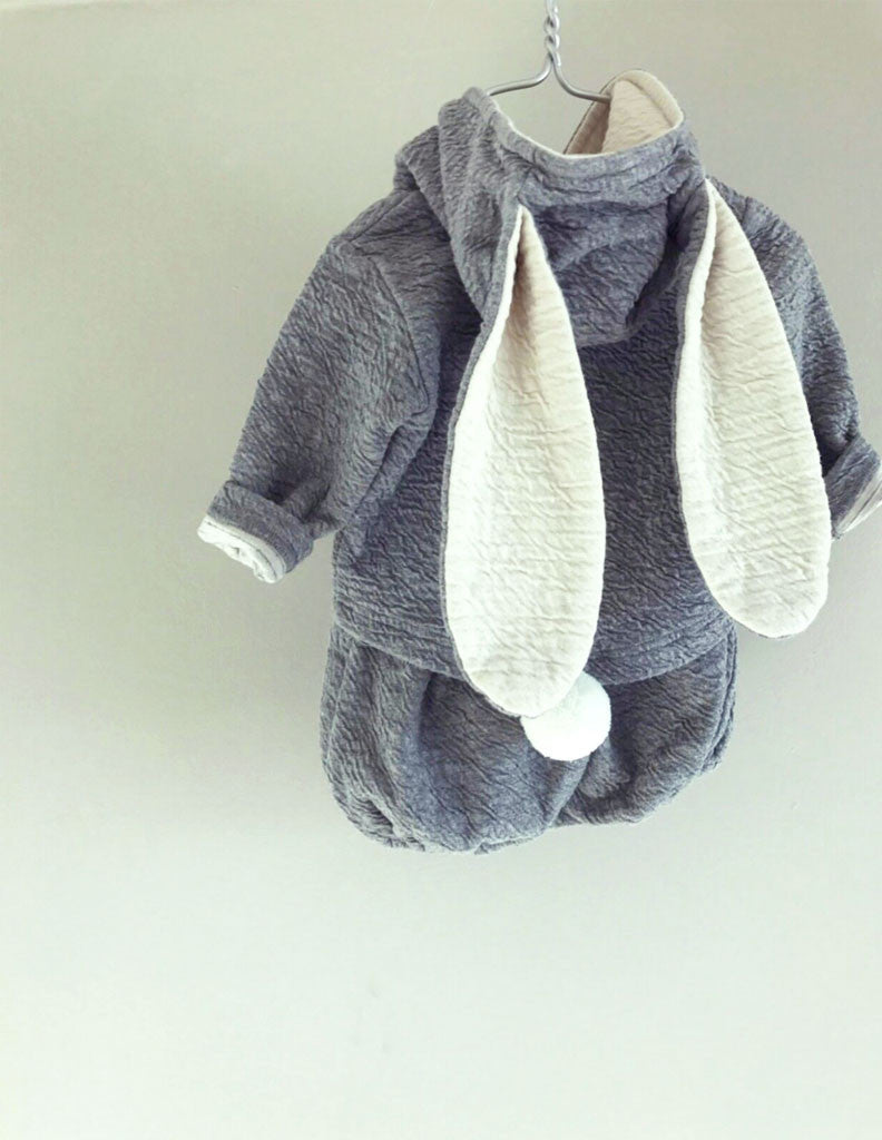 Bunny Hoodie and Bloomer Set Grey