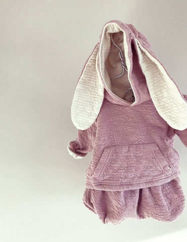 Bunny Hoodie and Bloomer Set Pink