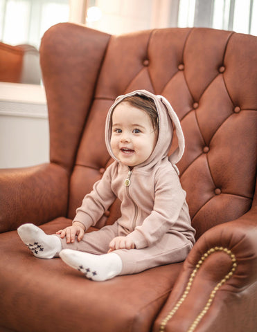 Bunny Hooded Jumpsuit Pink