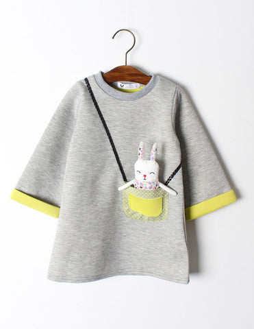 Bunny Pocket Tunic Grey