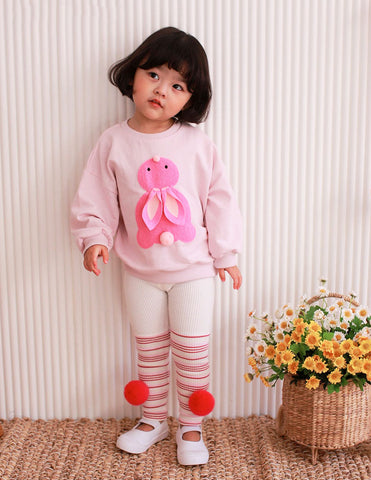Bunny Pom Pom Jumper and Leggings Set Pink